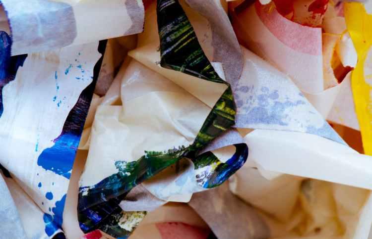 paper scrap lot